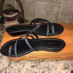 Style & Co. Haleigh Black Sandal 8M